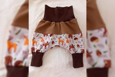 Pumprockers Hosen mit Teilung lang Gr. 56 - 92 Mädchen Stoffauswahl unter Details