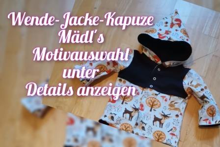 Wende-Jacke- mit Kapuze Gr. 56 - 116 Mädchen Stoffauswahl unter Details2