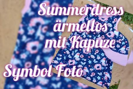 Summerdress ärmellos mit Kapuze Gr. 74-134 Stoffauswahl unter Details