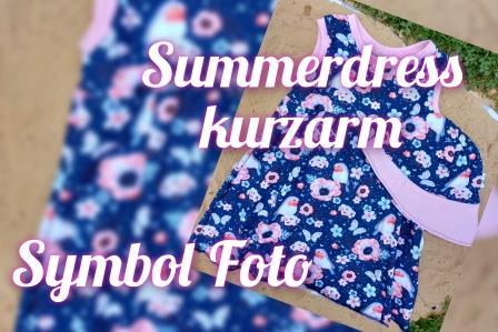 Summerdress kurzarm Gr. 74-134 Stoffauswahl unter Details
