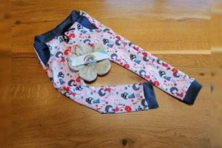 Cool Pants Gr. 86-134 Mädchen bunt Taschen einfärbig Stoffauswahl unter Details