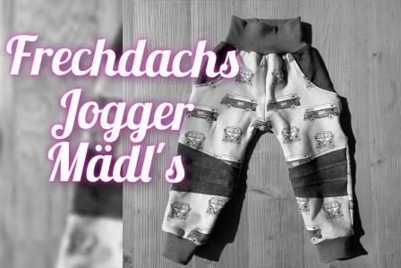 Frechdachs Jogger Gr. 86 - 152 Mädl´s Stoffauswahl unter Details