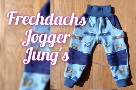 Frechdachs Jogger Gr. 86 - 152 Jung´s Stoffauswahl unter Details