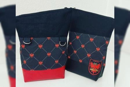 Fold Over mini Tiroler Adler schwarz rot