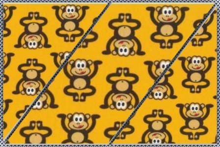 Alles rund um den Kopf Affen gelb