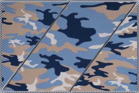 Alles rund um den Kopf Camouflage blau