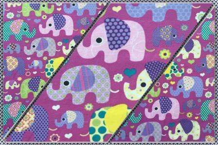 Alles für den Kopf Baby Elefanten violett