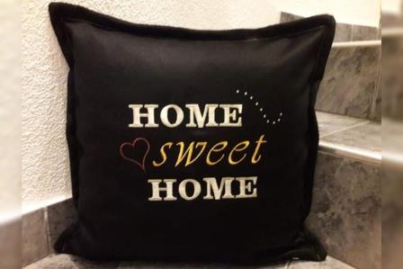 Loden Zirbenkissen Home Sweet Home 40x40 by Helgit