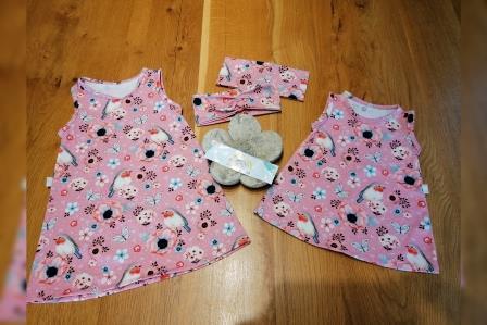 Kibu Sommerkleid Rotkehlchen rosa