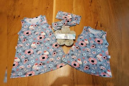Kibu Sommerkleid Rotkehlchen grau