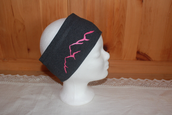 Berge schwarz/grau/pink/petrol